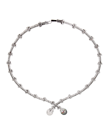 Estate Pearl Diamond White Gold Necklace - Estate Jewelry