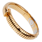 Bulgari Parentesi 18k Yellow Gold Cuff Bangle Bracelet
