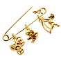 Cartier Gold Safety Pin Gold Brooch 2