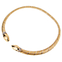 Cartier Panthere 18k Tri Color Gold Diamond Choker Necklace