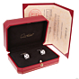 Cartier Panthere White Gold Diamond Onyx Cufflinks
