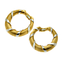 Cartier Paris Gold Hoop 18k Gold Two Tone Earrings