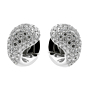 Cartier Pave Diamond White Gold Huggie Earrings
