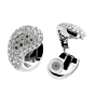 Cartier Pave Diamond White Gold Huggie Earrings 2