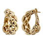 Cartier Chain Link Yellow Gold Hoop Drop Earrings