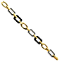 Chanel Onyx Diamond Gold Bracelet