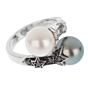 Chanel Pearl Bypass White Gold Ring