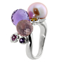 Chanel Camellia Gemstone Pearl White Gold Ring