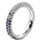 Chanel Sapphire Diamond Eternity White Gold Ring