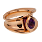 Chopard Imperiale Pear Amethyst Rose Gold Ring