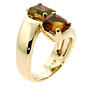 Hermes Bypass Cocktail Gold Ring