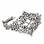 Petite Ladies Flexible Diamond Tennis White Gold Bracelet