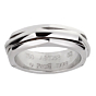 Piaget Possession Hexagon Spinning White Gold Ring Sz 6 1/2