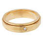 Piaget Possession Diamond Yellow Gold Spinning Ring Sz 5 1/2
