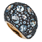 Pomellato 12 Carat Topaz Cocktail Rose Gold Ring Sz 5 3/4