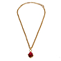 Pomellato Yellow Gold Pink Tourmaline Pendant Necklace