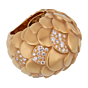 Pomellato Rose Gold Diamond Cocktail Ring Sz 5.5