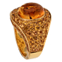 Roberto Coin 10.9ct Citrine Pave Cocktail Gold Ring