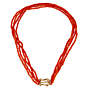 Tiffany & Co Paloma Picasso Coral Gold Necklace