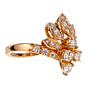 Van Cleef & Arpels Vintage Diamond Cocktail Yellow Gold Ring