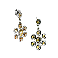 Estate Canary Diamond Earrings 6.60ct