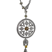 Cartier Diamond Surya Platinum Necklace
