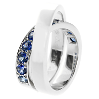 Cartier Sapphire Bypass White Gold Ring 2
