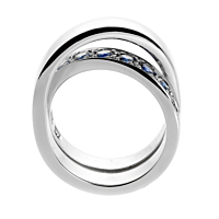 Cartier Sapphire Bypass White Gold Ring 3