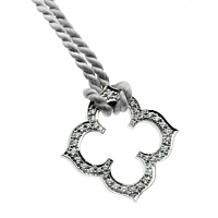Cartier Quatrefoil Diamond White Gold Necklace