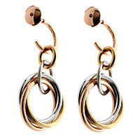 Cartier Trinity Crash Diamond Gold Earrings 2