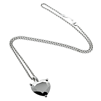 Chopard Golden Diamonds White Gold Heart Necklace 2
