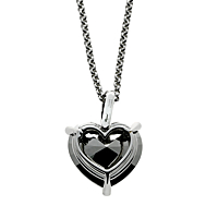 Chopard Golden Diamonds White Gold Heart Necklace 3