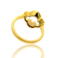Chopard Quatrefoil Happy Diamond Ring in 18kt Yellow Gold 826956-0110