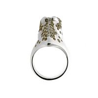 Hermes Galop Horse Diamond Silver Ring