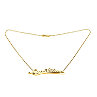 Louis Vuitton Signature Diamond Gold Necklace 1