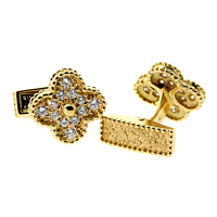 Van Cleef & Arpels Alhambra Diamond Cufflinks 2