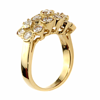 Van Cleef and Arpels Fleurette Diamond Gold Ring 2