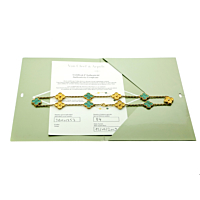 Van Cleef Arpels Limited Edition Malachite Vintage Alhambra Necklace