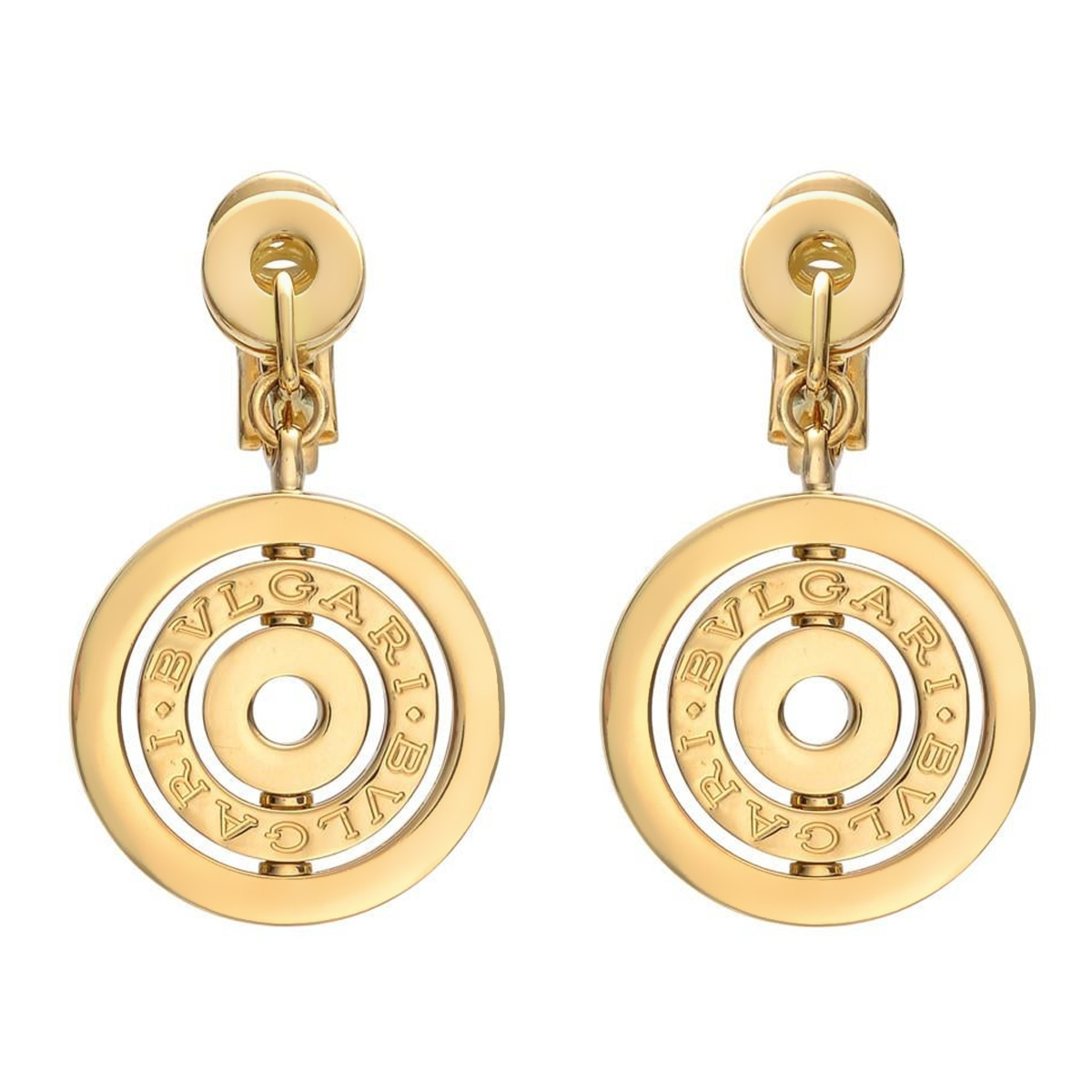 Bulgari Astrale Cerci Yellow Gold Drop Earrings