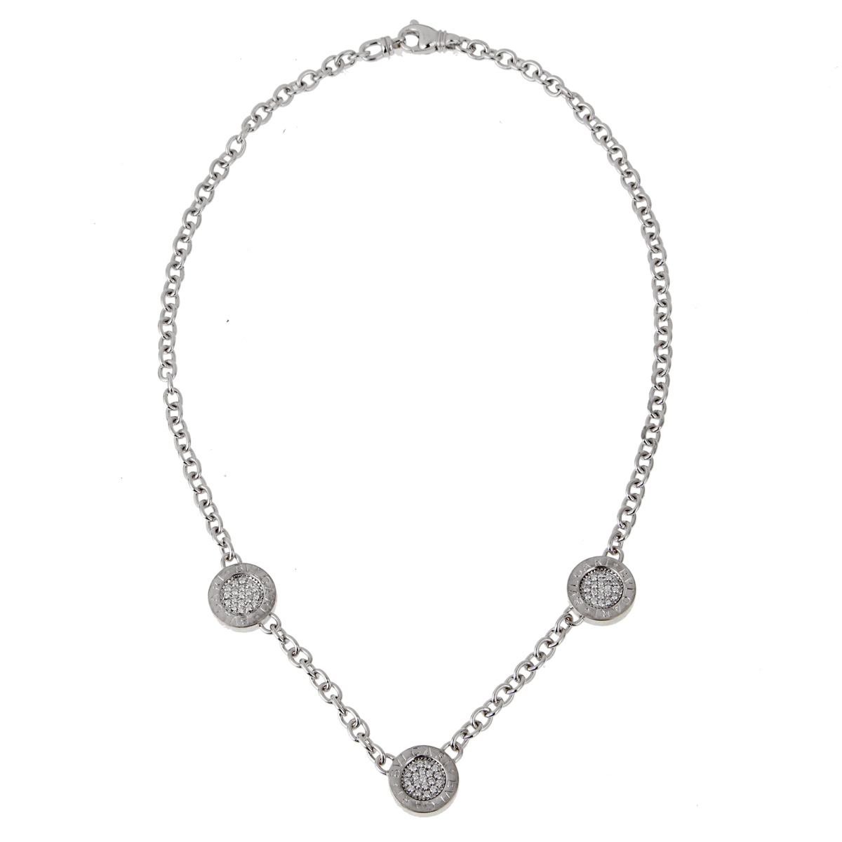 Bulgari Bulgari Diamond White Gold Necklace