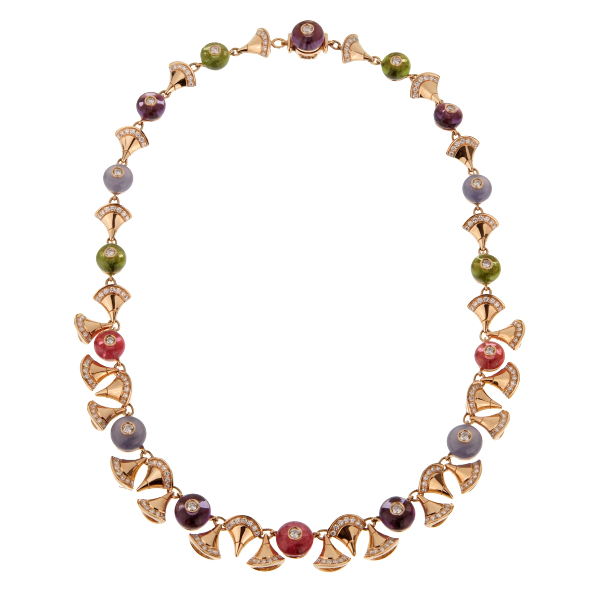 Bulgari Divas Dream Diamond Rose Gold Necklace