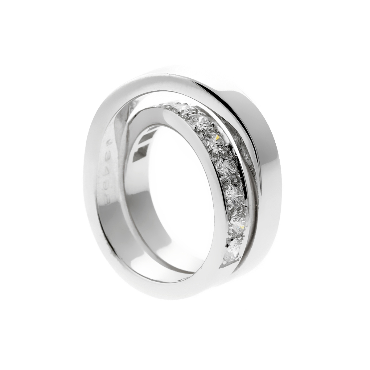 Cartier Nouvelle Vague Diamond White Gold Crossover Ring