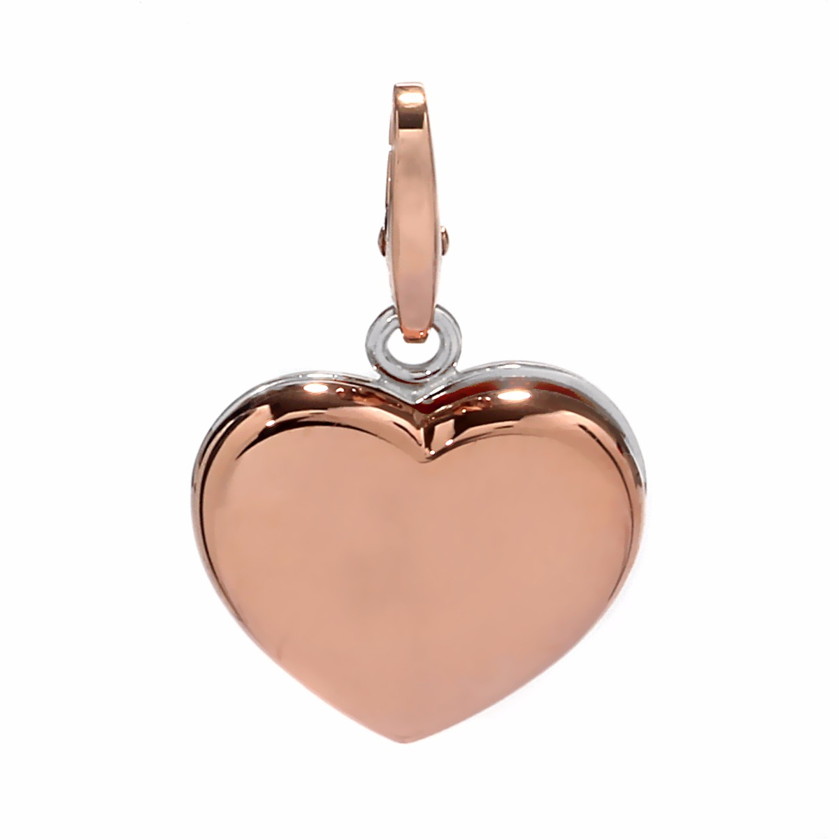 Cartier Heart Two Tone Gold Charm Pendant
