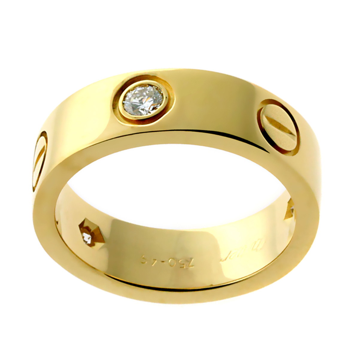 Cartier Love Diamond Yellow Gold Ring