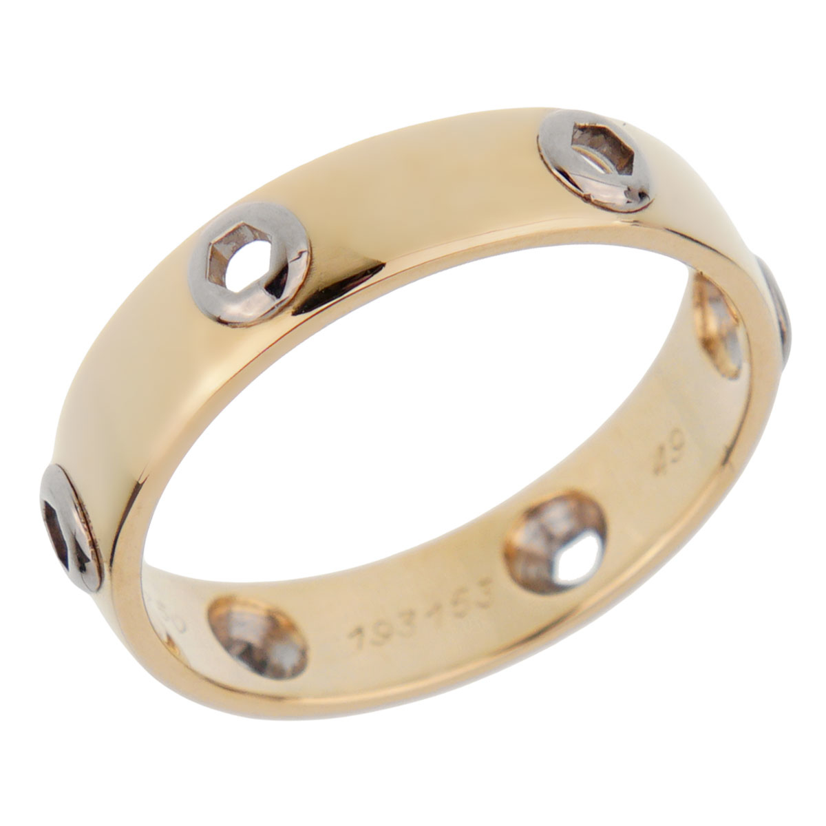 Cartier Love Series Yellow Gold Band Ring
