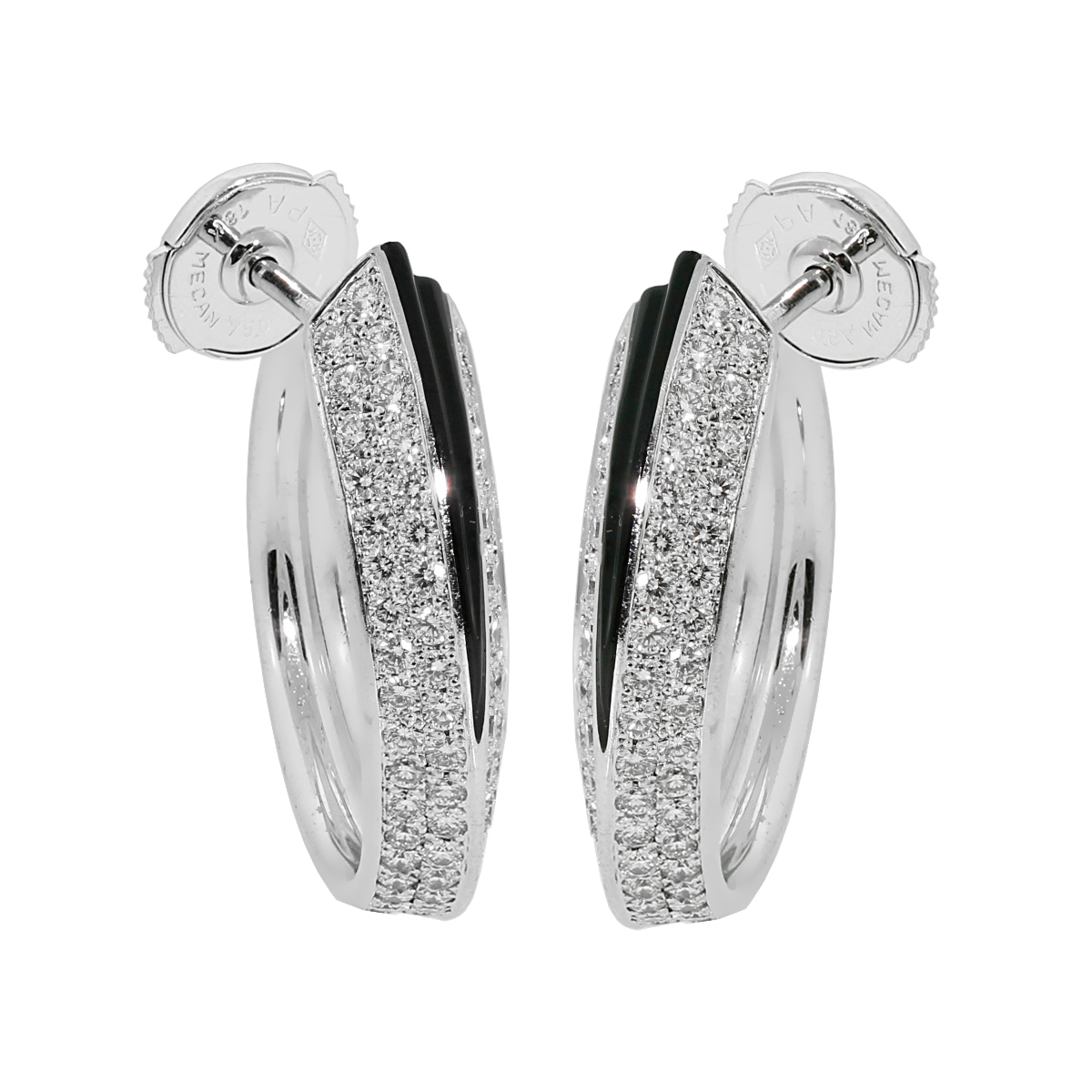 Cartier Panthere Diamond Onyx Earrings