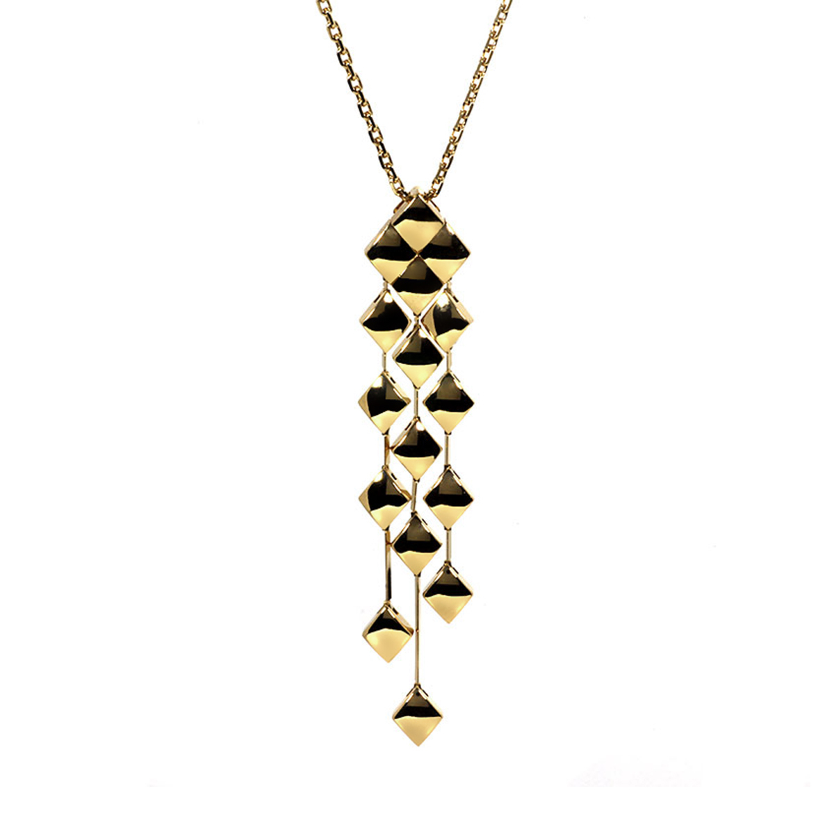 Chanel Matelasse Yellow Gold Quilted Necklace