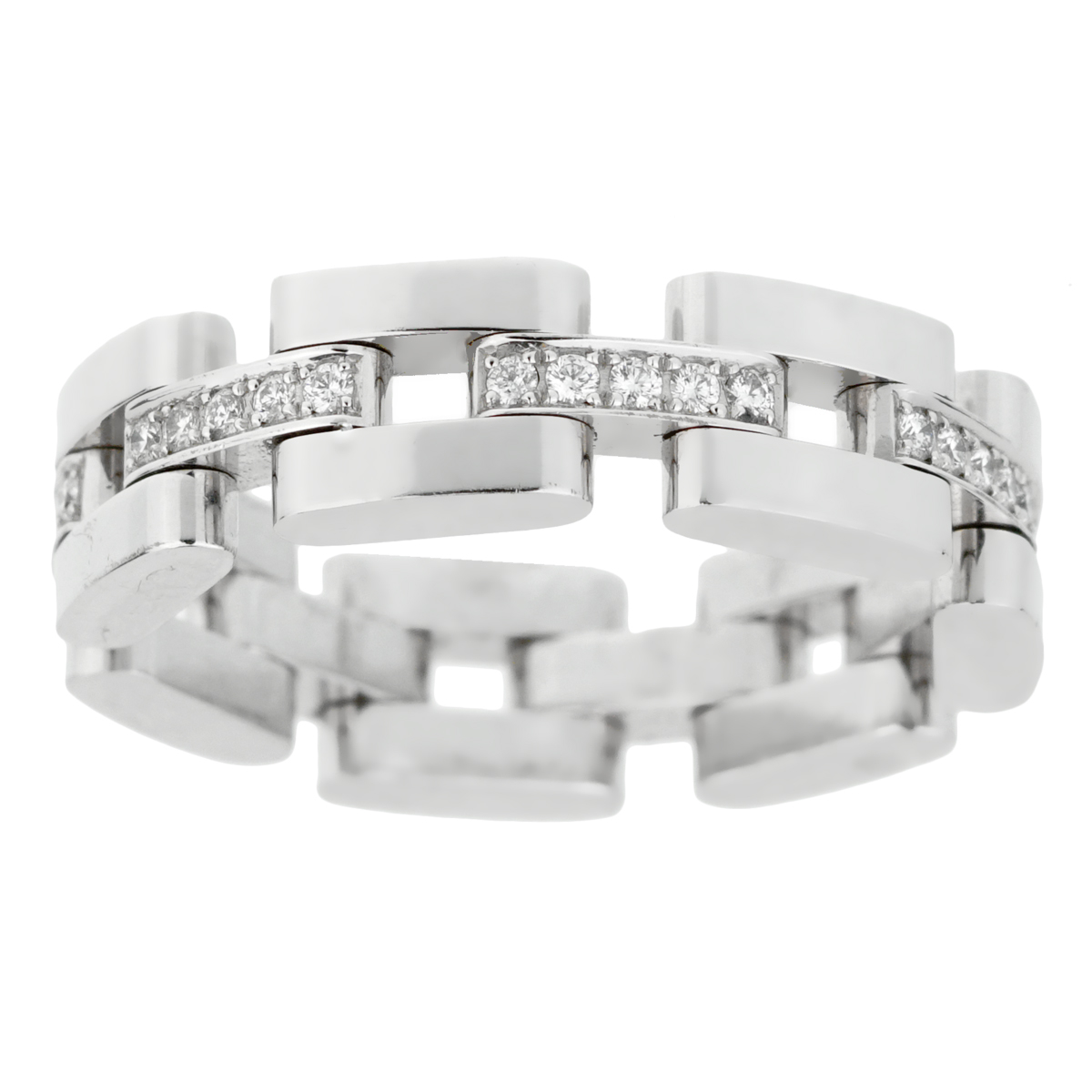 Chopard Les Chaines 3 Row White Gold Diamond Ring
