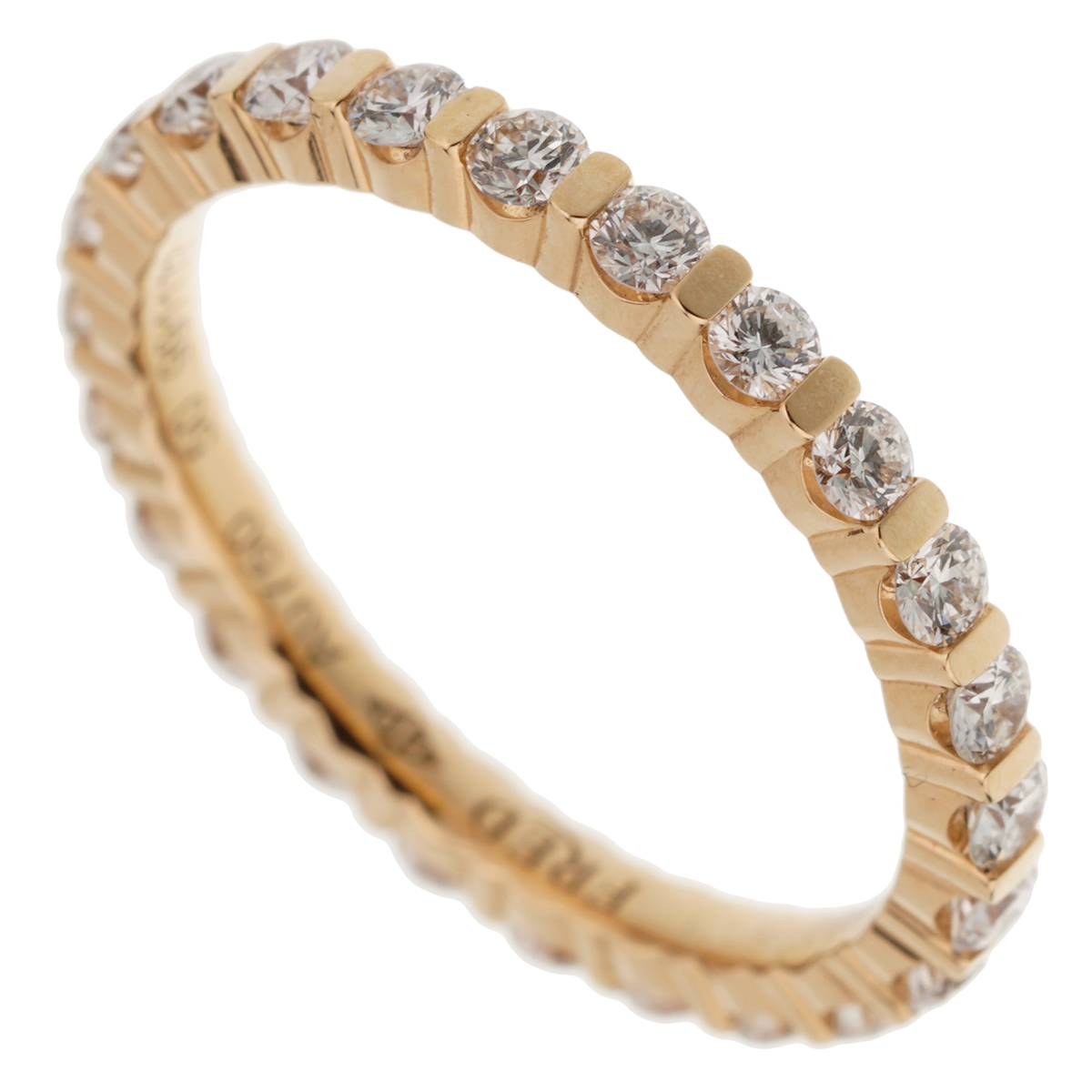 Fred of Paris Diamond Eternity Rose Gold Ring