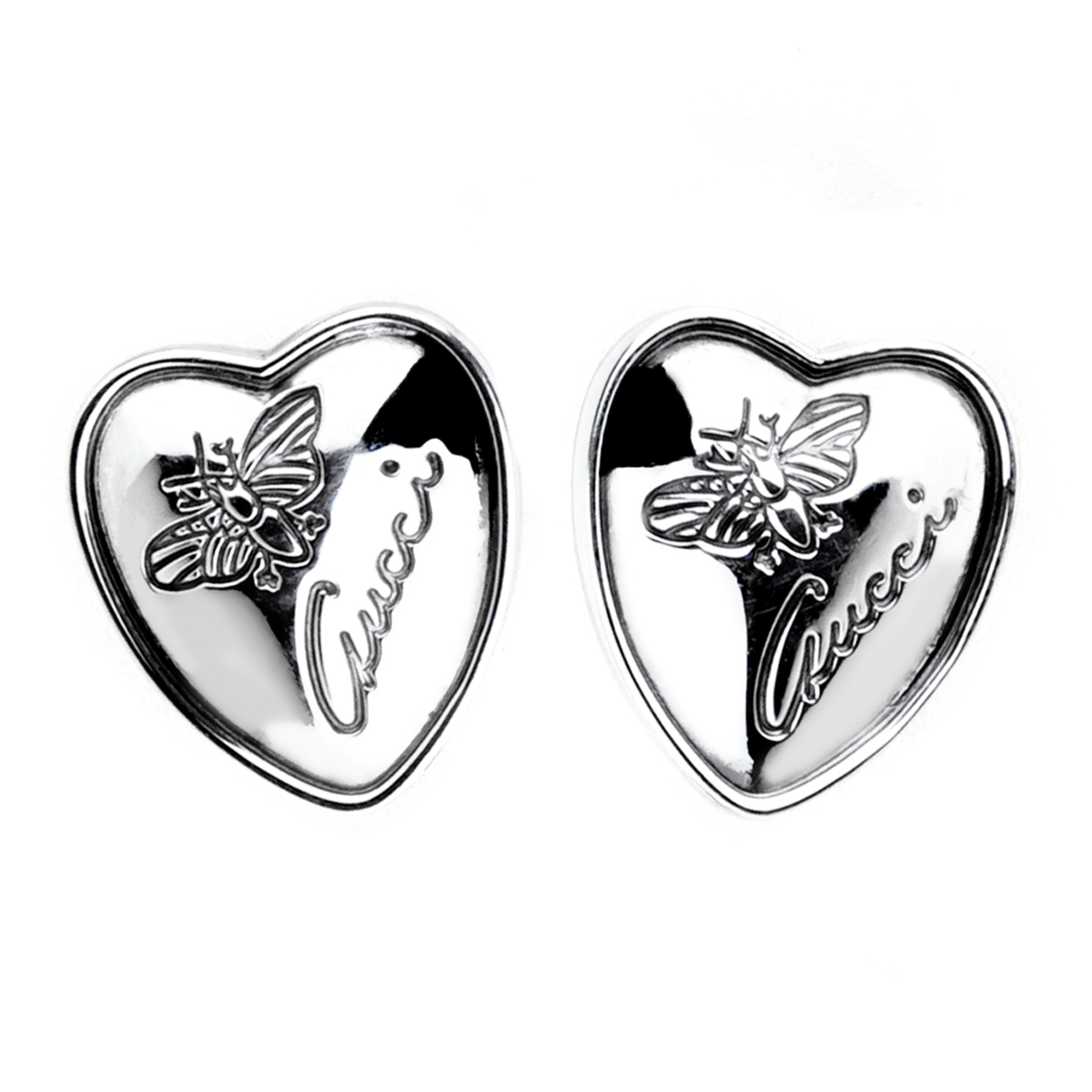 Gucci Butterfly Heart Stud Earrings